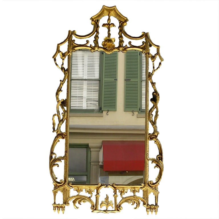 Italian Gilt Floral Mirror