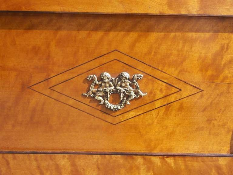 Italian Satinwood and Ebonized Biedermeier Palladian Mirror, Circa 1800 5