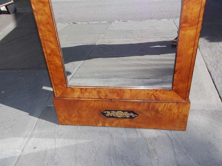 Italian Satinwood and Ebonized Biedermeier Palladian Mirror, Circa 1800 7