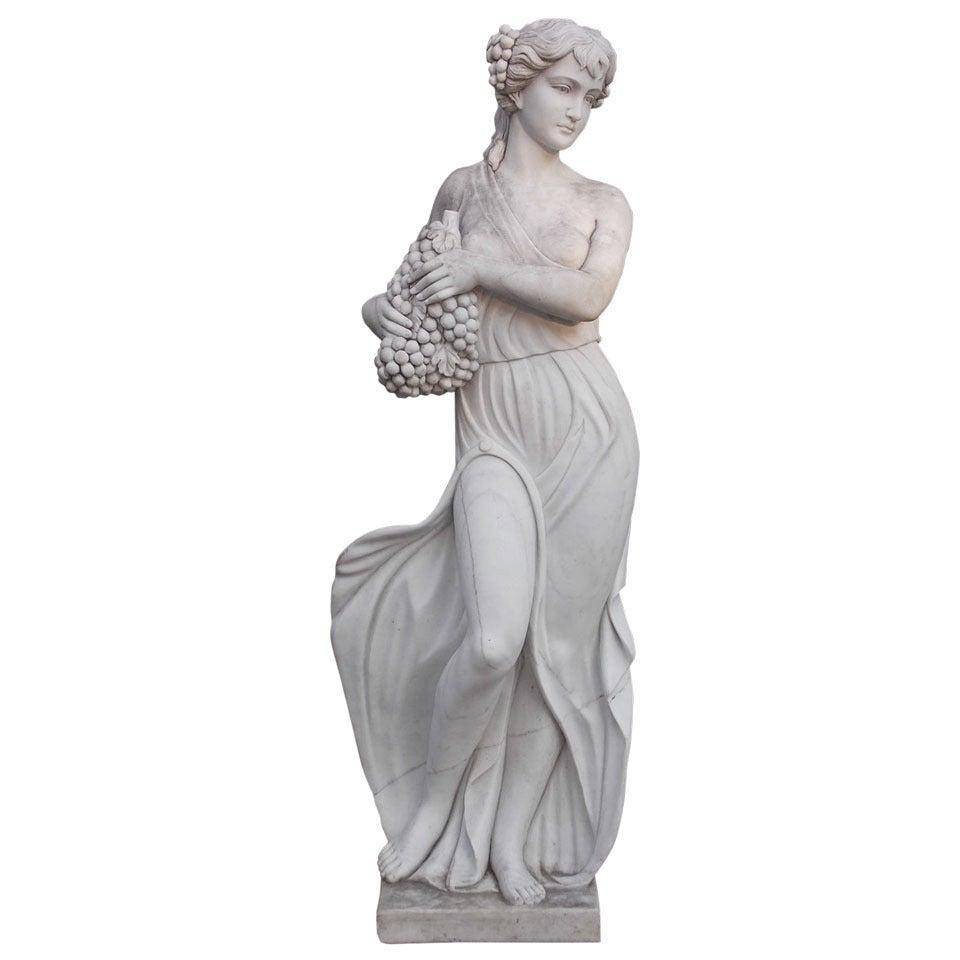 Italian Marble Statue, Circa 1850