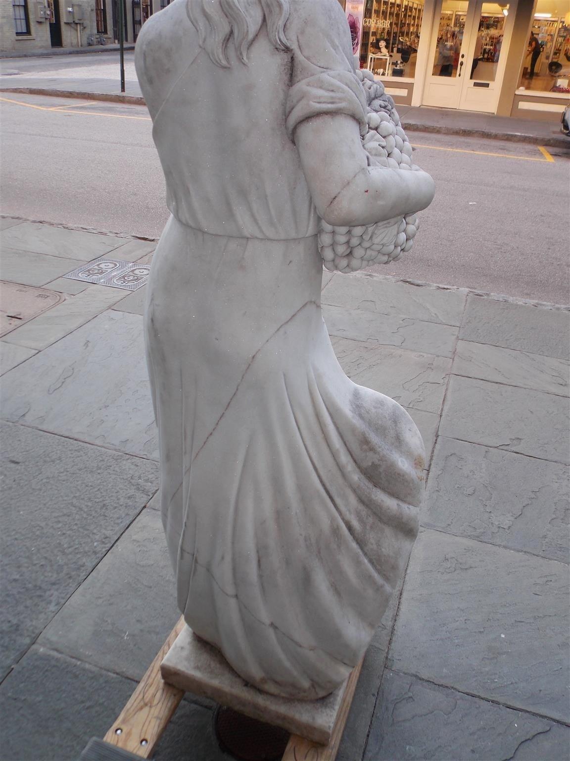 Italian Marble Statue, Circa 1850 For Sale 5