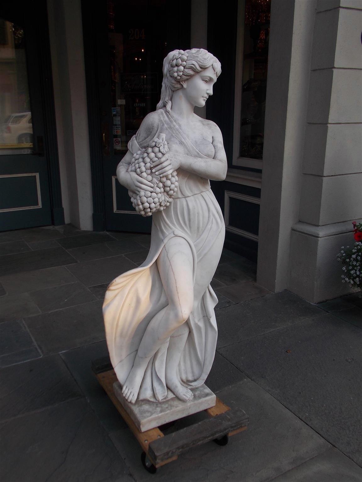 Neoclassical Italian Marble Statue, Circa 1850 For Sale