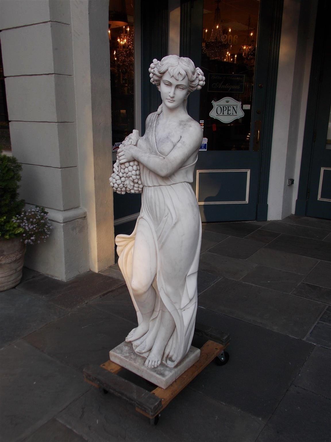 Italian Marble Statue, Circa 1850 In Excellent Condition For Sale In Charleston, SC