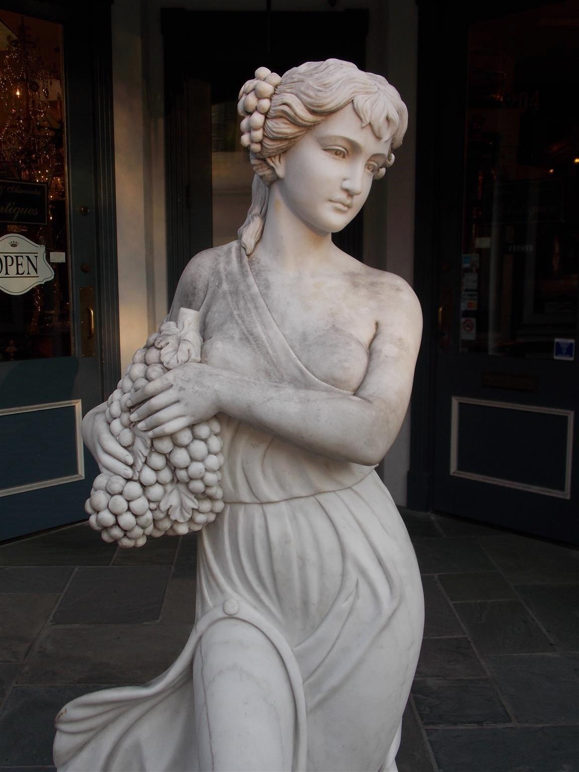 19th Century Italian Marble Statue, Circa 1850 For Sale