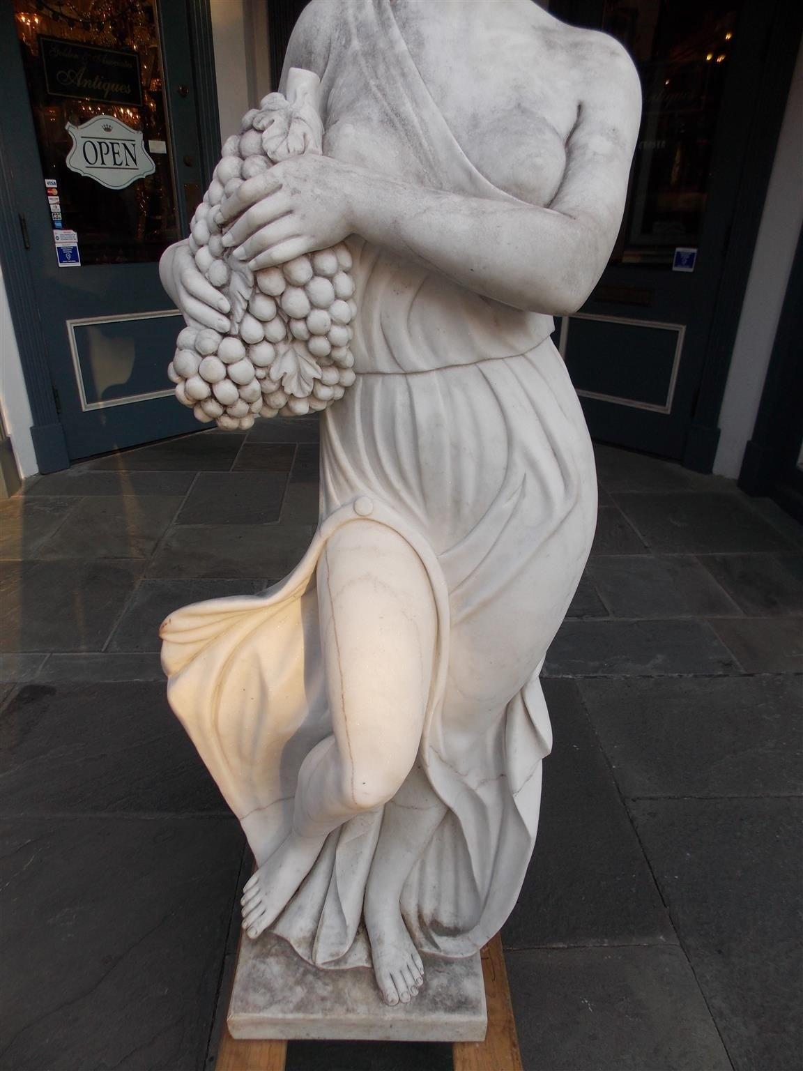 Italian Marble Statue, Circa 1850 For Sale 2