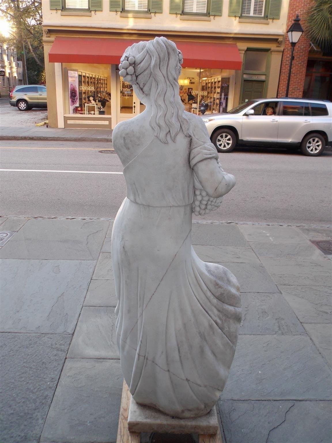 Italian Marble Statue, Circa 1850 For Sale 3