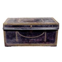 English Leather Blanket Chest. Circa 1820-30