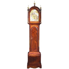 English Mahogany Tall Case Clock