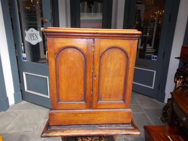 British English Mahogany Campaign Medical Box. Circa 1830 For Sale