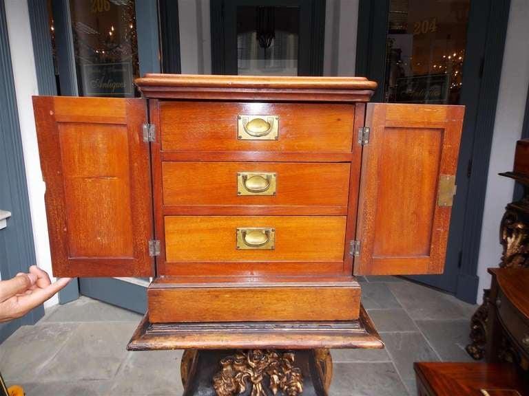 English Mahogany Campaign Medical Box. Circa 1830 For Sale 1