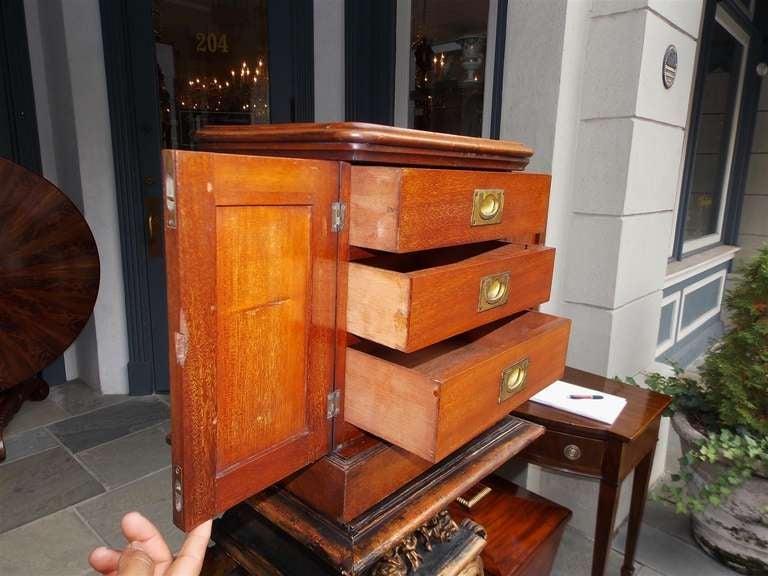 English Mahogany Campaign Medical Box. Circa 1830 For Sale 3