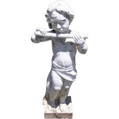 French Marble Statue of Pan