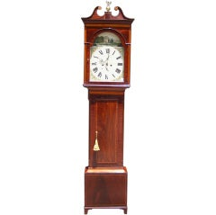 Scottish Mahogany Tall Case Clock