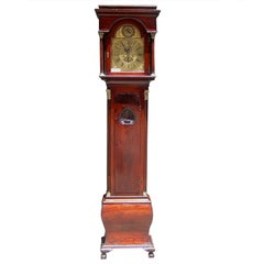 English Mahogany Ormolu Tall Case Clock.  Circa 1740