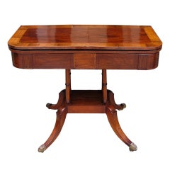 English Mahogany Game Table
