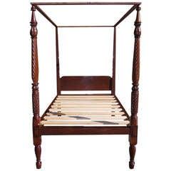 Charleston Mahogany Classical Tester Bed.  Charleston, Circa 1815-20