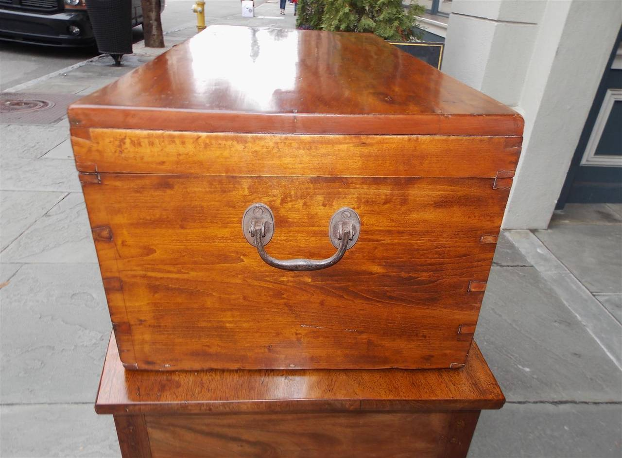 English lime wood military campaign chest circa for