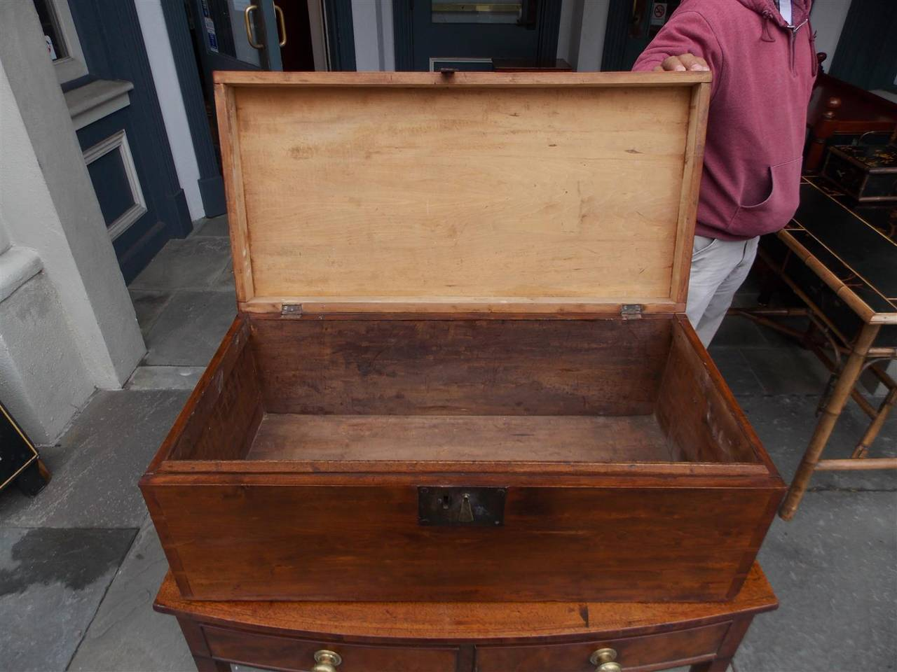 English Lime Wood Military Campaign Chest, Circa 1810 For Sale 2