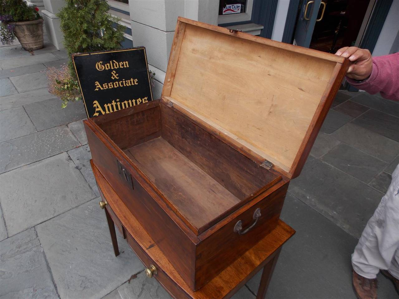 English Lime Wood Military Campaign Chest, Circa 1810 For Sale 3