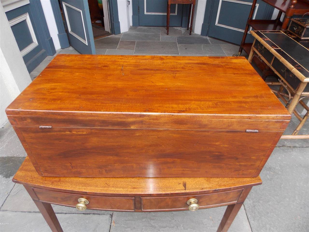 English Lime Wood Military Campaign Chest, Circa 1810 For Sale 5