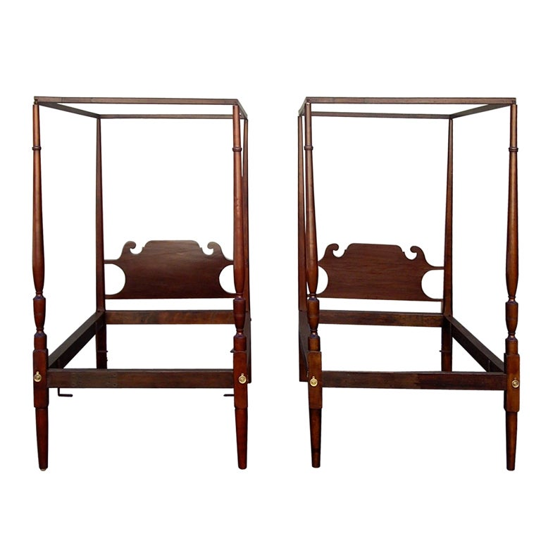 Pair of American Twin Tester Beds