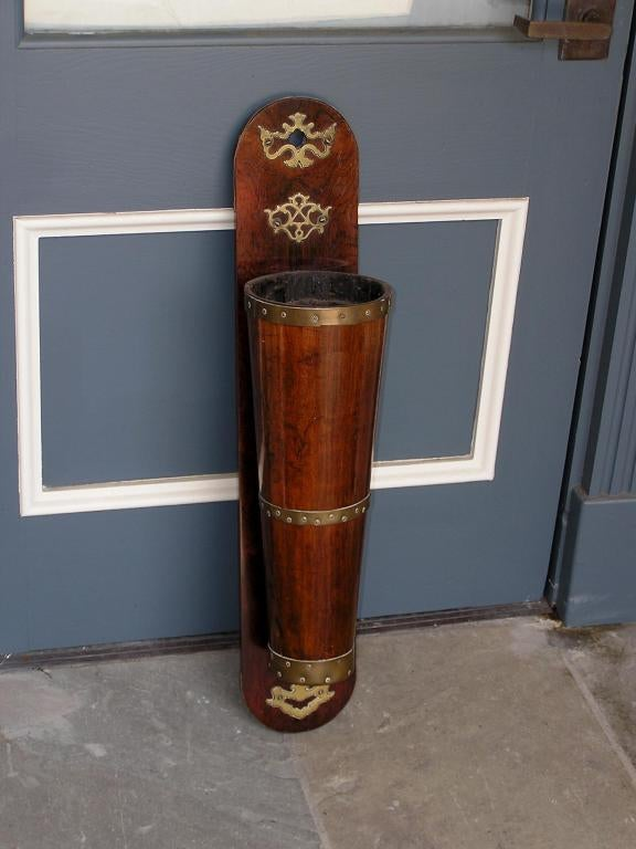 English Mahogany Riding Crop Holder In Excellent Condition For Sale In Charleston, SC