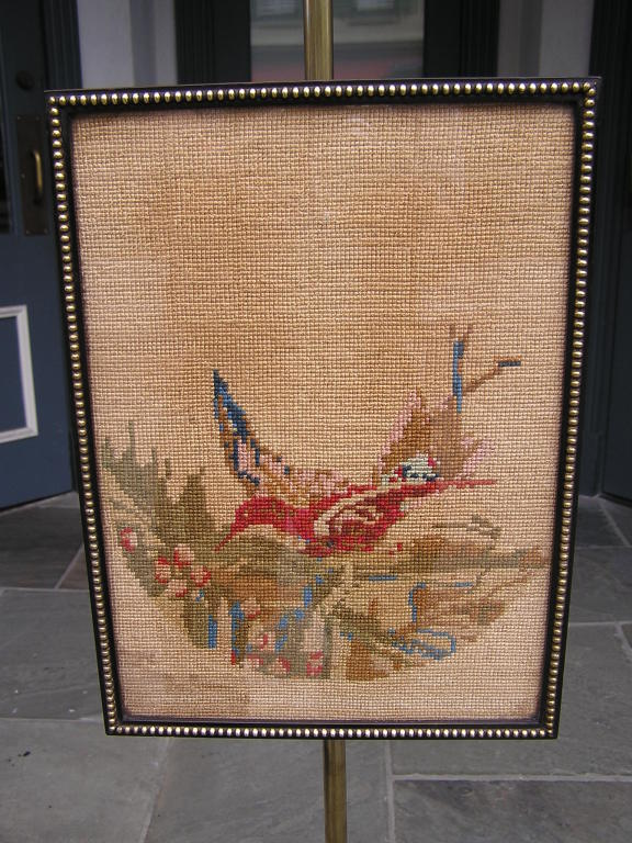 English Regency Pole Screen In Excellent Condition For Sale In Charleston, SC