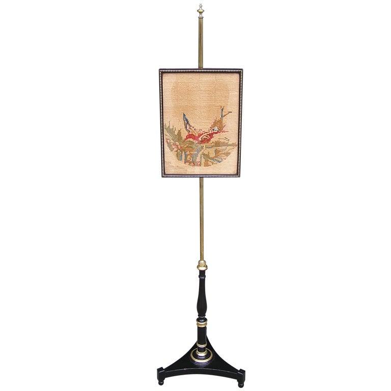 English Regency Pole Screen For Sale