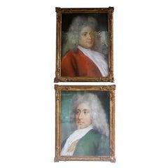Pair of Austrian Pastel Portraits