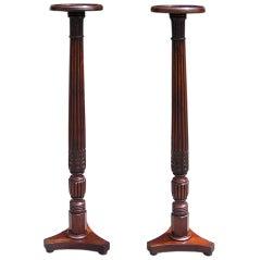 Pair of English Mahogany Pedestals