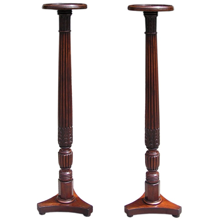 Pair of English Mahogany Pedestals