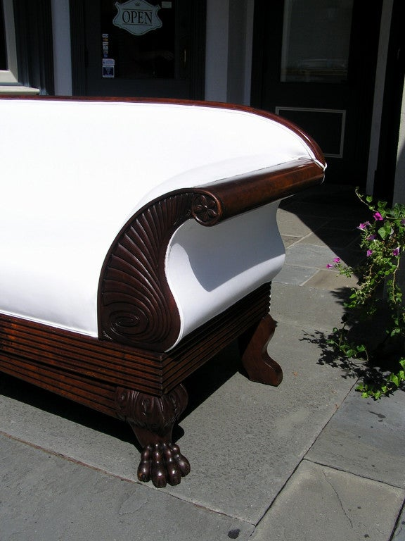 Jamaican Cuban Mahogany Sofa In Excellent Condition For Sale In Charleston, SC