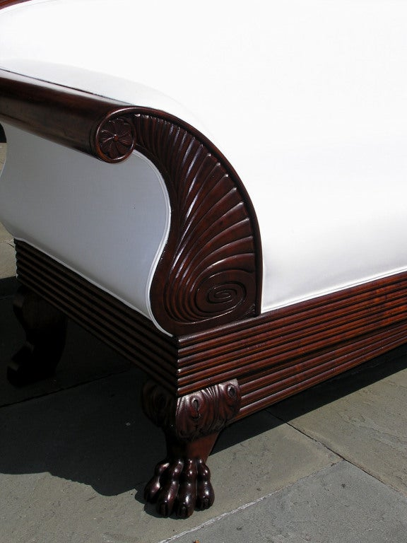 Jamaican Cuban Mahogany Sofa For Sale 3