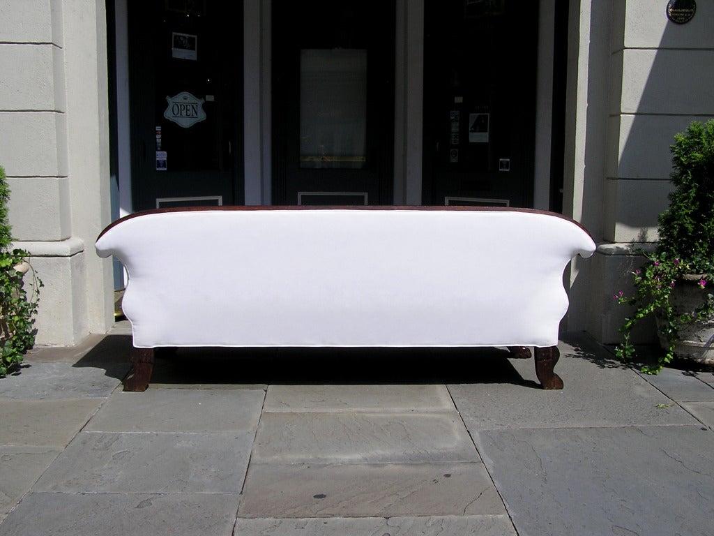 Jamaican Cuban Mahogany Sofa For Sale 5