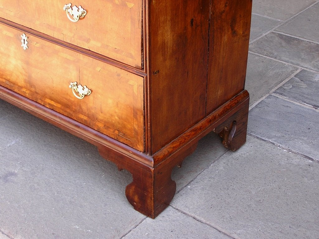English Walnut Chest of Drawers For Sale 4