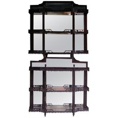 English Chippendale Mahogany Hanging Shelves
