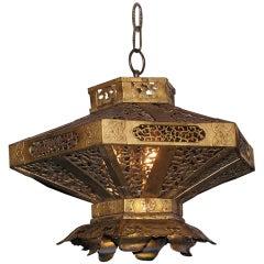 Japanese Gilt Bronze Hanging Lantern