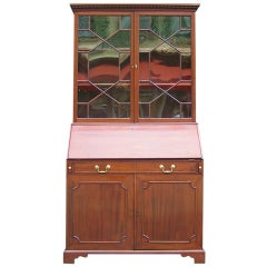 English Mahogany Slant Front Secretary