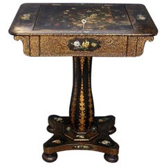 French Paper Mache Writing Table