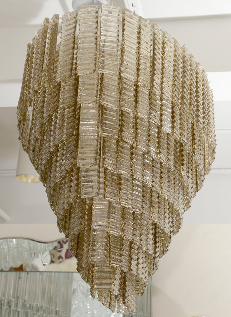 Impressively Large Venini Style, Smoke Murano Glass Chandelier 8