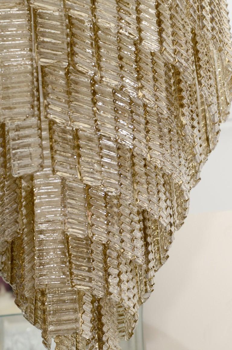 Impressively Large Venini Style, Smoke Murano Glass Chandelier 9