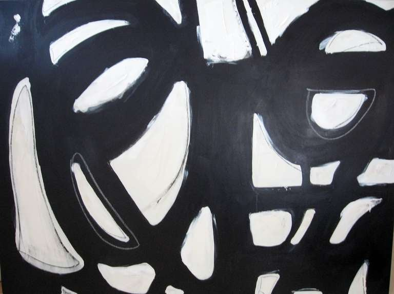 Original Signed Black and White Abstract by Karina Gentinetta 1