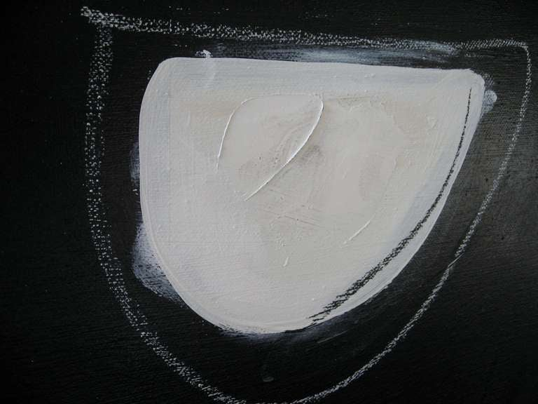 Original Signed Black and White Abstract by Karina Gentinetta 5