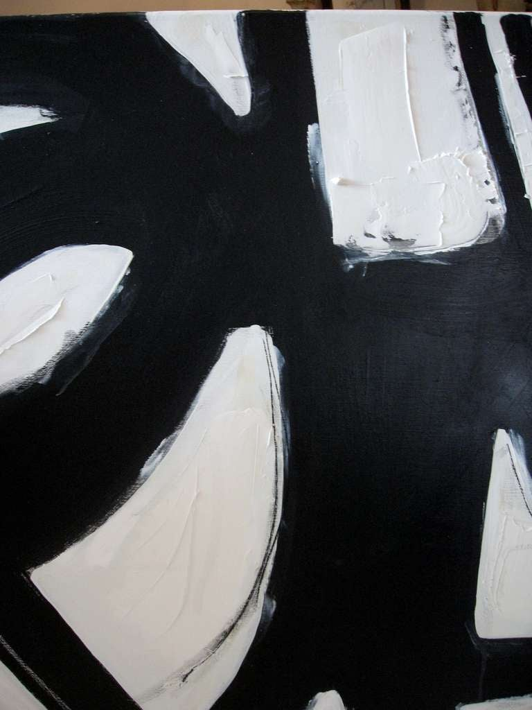 Original Signed Black and White Abstract by Karina Gentinetta 7
