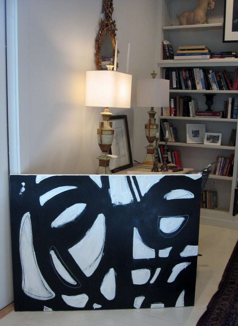 Original Signed Black and White Abstract by Karina Gentinetta 9