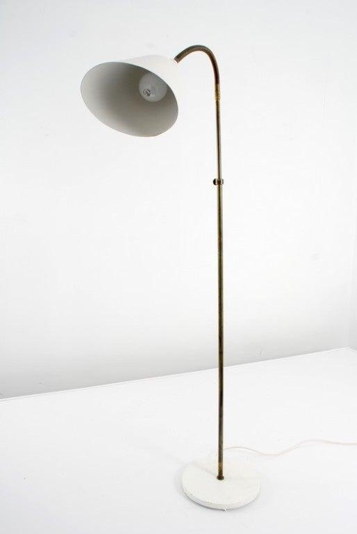 Mid-Century Modern Rare Floor Lamp by Arne Jacobsen for Louis Poulsen, Early Work For Sale