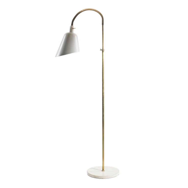 Rare Floor Lamp by Arne Jacobsen for Louis Poulsen, Early Work For Sale