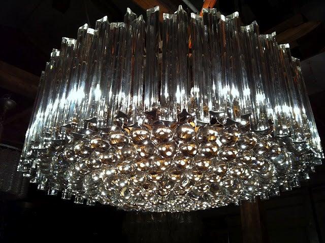 huge exquisite glass chandelier diameter vintage murano for sale ebay