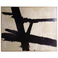 """""""Crossroads"""" Original Painting by Argentine Artist Karina Gentinetta (60"""" x 48"""")"""