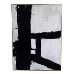 """""""Rear Window"""" Original Painting by Argentine Artist Karina Gentinetta, 36"""" x 48"""""""